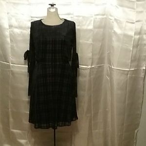Black velvet plaid dress by Lauren Conrad Runway